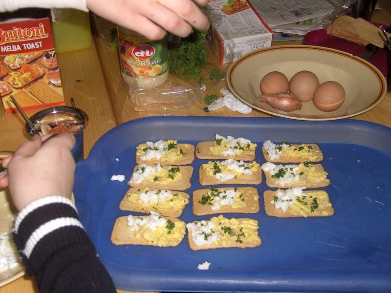 Eiersalade in 't kabouterbos