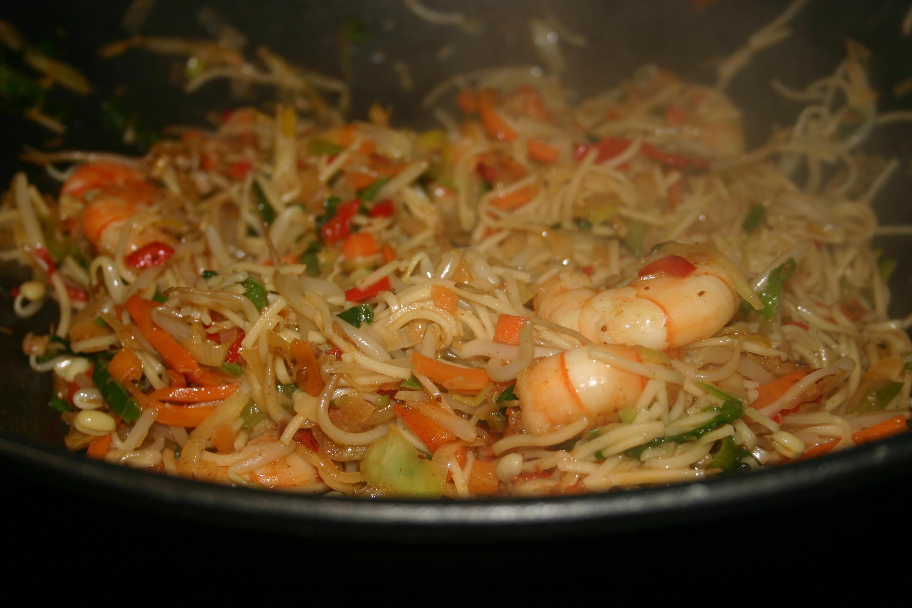 Scampi-tofu-spaghettisaus